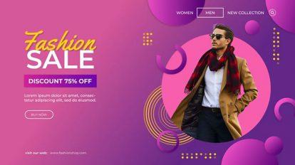 پروژه افترافکت تیزر تبلیغاتی فشن Fashion Sale Promo
