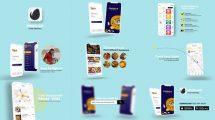 پروژه افترافکت تیزر تبلیغاتی پیک غذا Food Delivery App Promo
