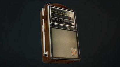 مدل سه بعدی رادیو ترانزیستوری قدیمی General Electric Portable Transistor Radio