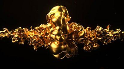 پروژه افترافکت نمایش لوگو طلایی Gold Logo Intro