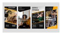 پروژه افترافکت مجموعه استوری اینستاگرام بدنسازی Gym and Fitness Instagram Stories