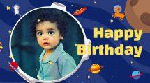 پروژه افترافکت افتتاحیه تولد کودک Happy Birthday Arthur