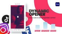 پروژه افترافکت افتتاحیه اینستاگرام Instagram Dynamic Opener