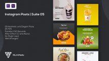 پروژه پریمیر مجموعه پست اینستاگرام تبلیغاتی Instagram Posts Suite 05