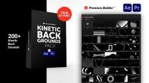 پروژه افترافکت مجموعه زمینه متحرک Kinetic Backgrounds Pack