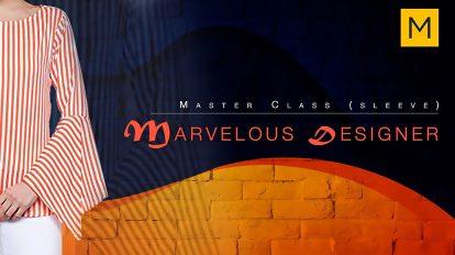 آموزش طراحی آستین در مارولوس دیزاینر Masterclass in Marvelous Designer Sleeves