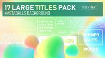 پروژه افترافکت مجموعه نمایش عناوین با زمینه انتزاعی Metta Balls Titles Pack