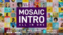 پروژه افترافکت اینترو با موازییک تصاویر Mosaic Intro