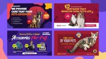 پروژه افترافکت اسلایدشو مراکز مراقبت از حیوانات Pets Shop and Care Slideshow