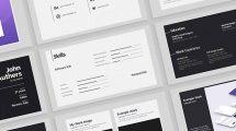 پروژه افترافکت نمایش رزومه Portfolio Resume