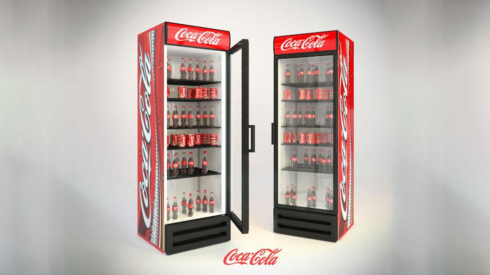 مدل سه بعدی یخچال کوکا کولا Refrigerator Coca Cola