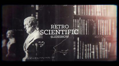 پروژه افترافکت اسلایدشو با موضوع علمی Retro Science Slideshow