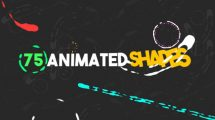 پروژه افترافکت مجموعه انیمیشن کارتونی اشکال Shape Animated Elements