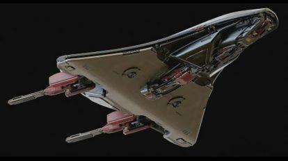 مدل سه بعدی درن جنگی Stingray Battle Drone