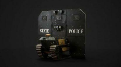 مدل سه بعدی گارد ضدشورش پلیس Swat Riot Bot