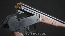 مدل سه بعدی اسلحه شاتگان TP-82 Shotgun