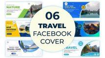 پروژه افترافکت مجموعه کاور فیسبوک گردشگری Travel Facebook Cover