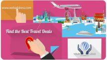 پروژه افترافکت تیزر تبلیغاتی گردشگری Travel Agency Promo