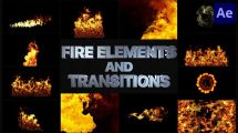 پروژه افترافکت مجموعه ترانزیشن و اجزای آتش VFX Fire Elements