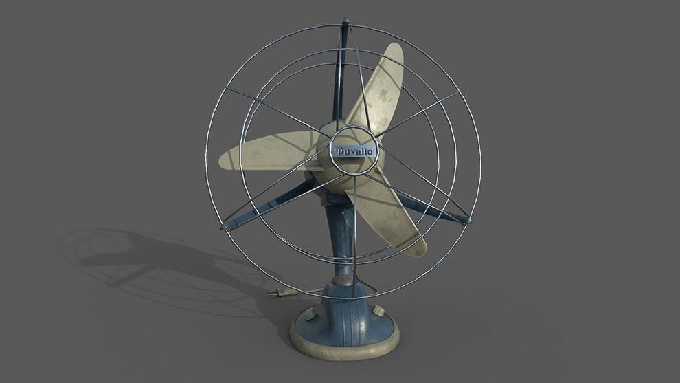 مدل سه بعدی فن رومیزی قدیمی Vintage Table Fan