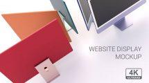 پروژه افترافکت موکاپ صفحه نمایش Website Display Mockup