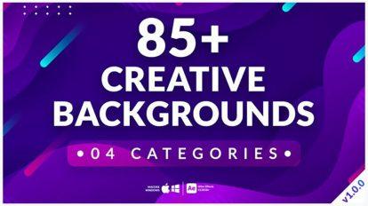 پروژه افترافکت مجموعه زمینه متحرک Creative Backgrounds