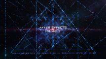 پروژه افترافکت نمایش عناوین پارتیکلی Abtsract Particles Titles