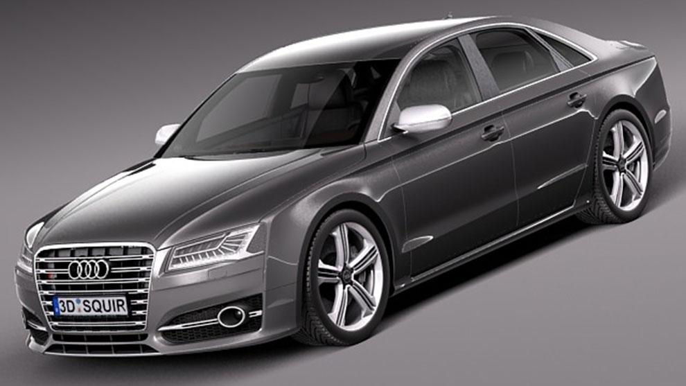 مدل سه بعدی خودرو آئودی Audi S8 2014