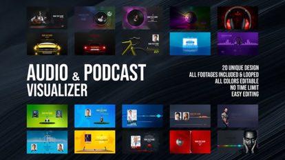پروژه افترافکت ویژوالایزر پودکست Audio and Podcast Visualizer