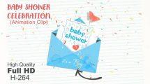 فوتیج موشن گرافیک تولد نوزاد Baby Shower Celebration