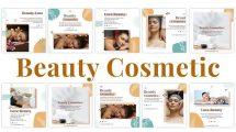 پروژه افترافکت مجموعه پست اینستاگرام زیبایی Beauty Cosmetic Instagram Posts