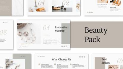 پروژه افترافکت تیزر تبلیغاتی زیبایی Beauty Promo Pack