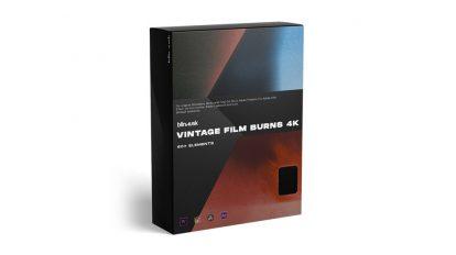 مجموعه فوتیج افکت سوختن فیلم Vintage Film Burns