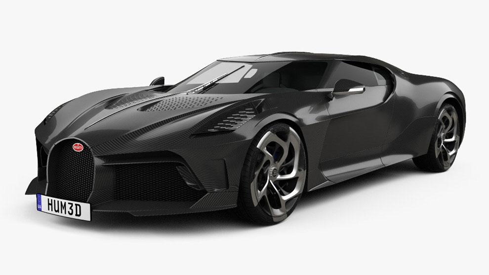 مدل سه بعدی خودرو بوگاتی Bugatti La Voiture Noire 2019