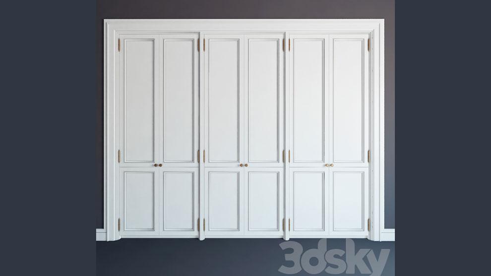 مدل سه بعدی کمد دیواری Built-in Wardrobe 09