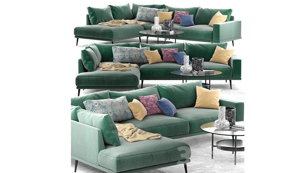 مدل سه بعدی کاناپه راحتی Carlton Sofa