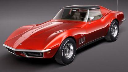 مدل سه بعدی خودرو شورلت کوروت Chevrolet Corvette C3 1969