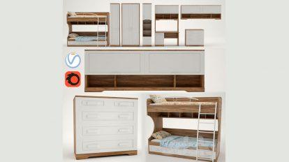 مجموعه مدل سه بعدی وسایل اتاق کودکان Children Provence