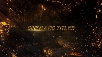 پروژه افترافکت نمایش عناوین سینمایی Cinematic Titles