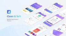 پروژه افترافکت تیزر تبلیغاتی اپلیکیشن Clean App Promo