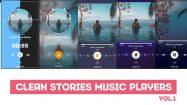 پروژه افترافکت مجموعه استوری با پخش موزیک Clean Stories MusicPlayers