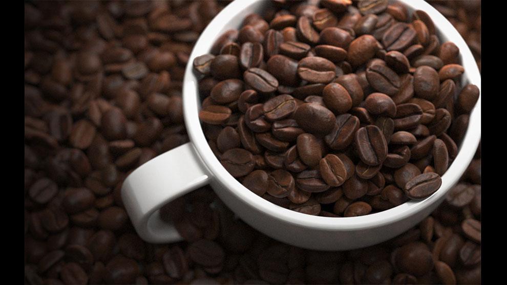مدل سه بعدی دانه قهوه Coffee Beans
