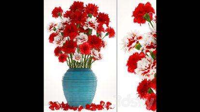 مدل سه بعدی گلدان Collection of Flowers