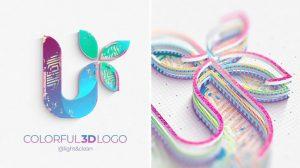 پروژه افترافکت نمایش لوگو رنگارنگ Colorful 3D Logo Reveal