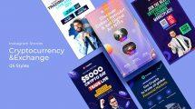 پروژه افترافکت استوری اینستاگرام رمزارز Cryptocurrency Exchange Instagram Stories