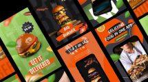 پروژه افترافکت استوری تبلیغاتی غذا Delivery Food Stories