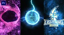 پروژه پریمیر نمایش لوگو با افکت انرژی Energy Vortex Logo Reveal
