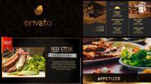 پروژه افترافکت منوی دیجیتال رستوران Exclusive Restaurant Digital Menu