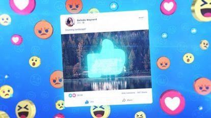 پروژه افترافکت افتتاحیه فیسبوک Facebook Opener