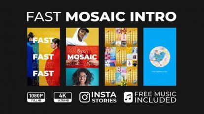 پروژه افترافکت اینترو موزاییکی Fast Mosaic Intro